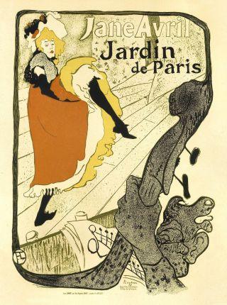 Art Nouveau Style Advertising Print ' Jardin De Paris ' photo