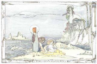 1914 Jessie King Art Nouveau Print Glasgow Girl Mermaid New Printing photo