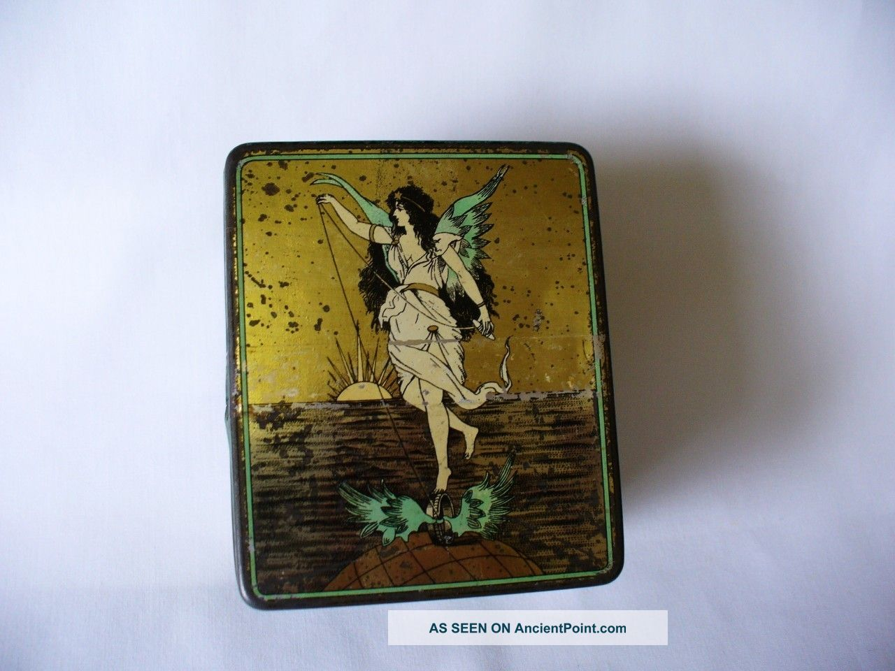 Art Nouveau Period Collectable Tin - Cook & Co Ring Travellers Art Nouveau photo