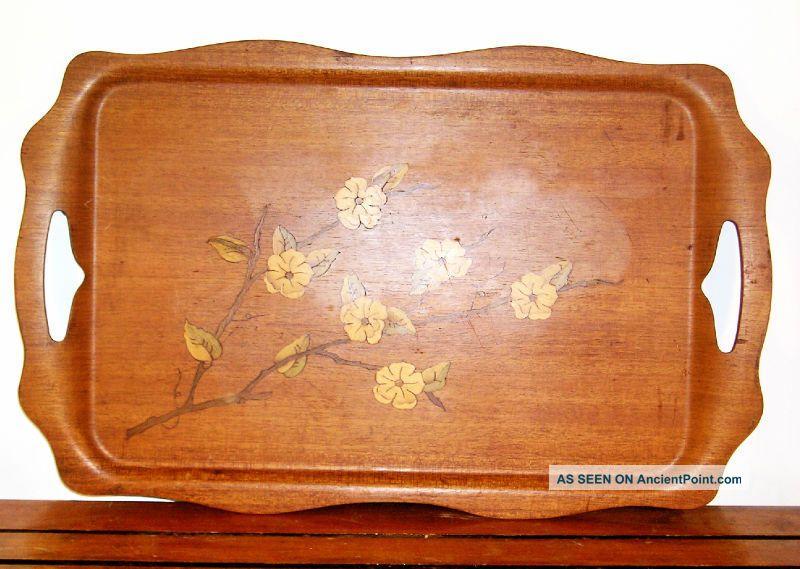 Vintage Art Nouveau Wood Tray M1 Art Nouveau photo