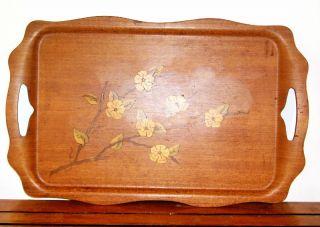 Vintage Art Nouveau Wood Tray M1 photo