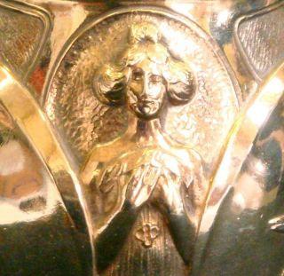 Fine Art Nouveau Gilded Bronze Figural Vase By Ch Korschann For Louchet photo