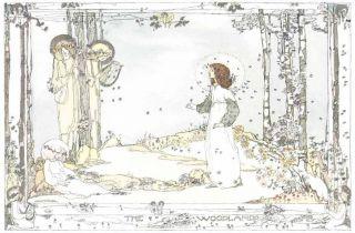 1914 Jessie King Art Nouveau Print Glasgow Girl Fairies New Printing photo