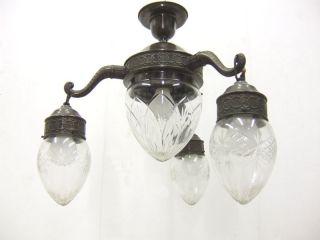 Rare 20s Art Nouveau Ceiling Lamp Pendant Lamp Art Deco photo