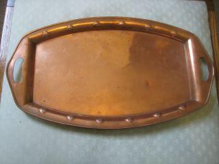 Wmf Art Nouveau Copper Tray C.  1910 photo
