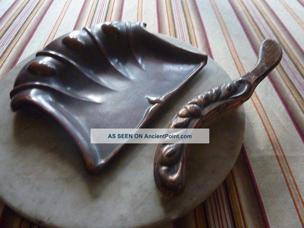 Antique Art Nouveau Dustpan And Brush Art Nouveau photo