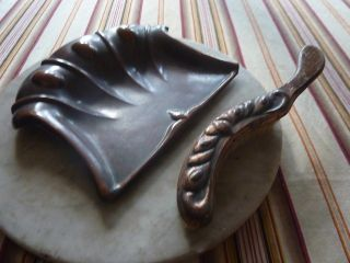 Antique Art Nouveau Dustpan And Brush photo