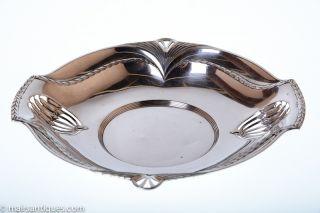 Silver Plated Art Nouveau Shallow Bowl By Wmf Circa 1905 photo