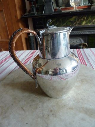 Antique Silver Plated Coffee Pot Or Hot Water Jug photo