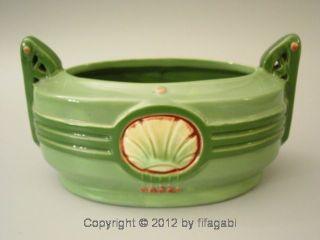 Art Nouveau Ceramic Cachepot / Planter Vintage Eichwald Wiener Werkstatte Czech photo