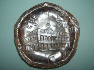 Art Nouveau Pewter Dish.  The Cabildo New Orleans Historical Building photo
