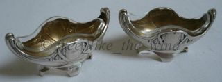 Pair Of Silver 800 Salieren Spice Bowl Art Nouveau Jardiniere Entenmann & Hirzel photo