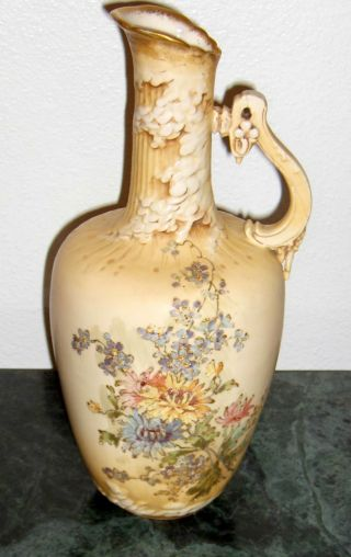 Rstk Turn Teplitz Amphora Pitcher Ewer Austria 1890s Art Nouveau Large Classic photo