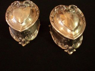 Pair Art Nouveau Silver Plated Jewelry Boxes photo