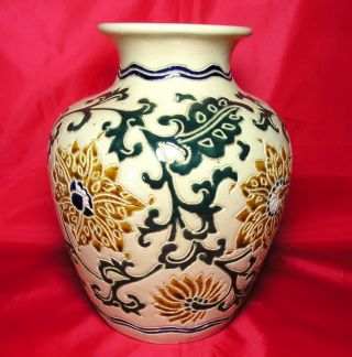 Antique Austrian Art Nouveau Pottery Vase C.  1900 - 10 photo
