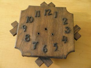 Antique Arts And Crafts Oak Clock Project photo