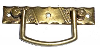 Victorian Arts & Crafts Brass Handle,  Reg.  Des.  1888. photo