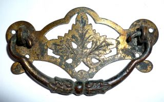 Victorian Arts & Crafts Gilded Brass Handle,  Circa 1880 photo