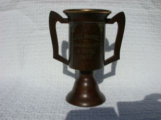 Heintz Art Metal Sterling On Bronze Trophy Arts And Crafts 1922 Dahlia Society photo