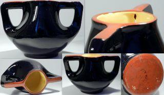 Vintage Arts & Craft Drip Two Handled Bowl Royal Stanleyware? photo