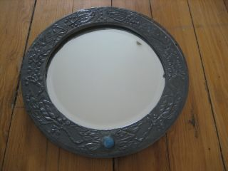 Arts & Crafts Pewter Mirror - Shabby Chic Interest photo