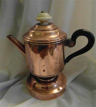 Antique Copper Coffee Percolator Pot - Arts & Crafts ? photo