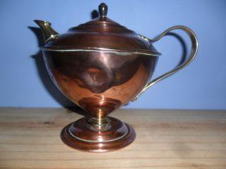 Arts & Crafts W.  A.  S.  Benson Copper Brass Teapot photo