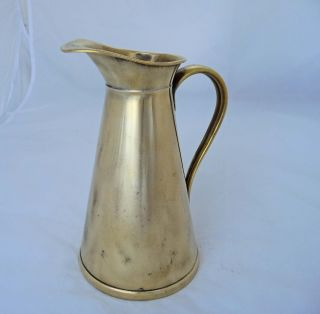 Classic 1.  5 Pint Brass Ewer By Joseph Sankey C.  1890 - 1900 photo