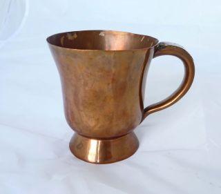 Rare Victorian Nottingham Copper Tankard - C.  1840 - 1860 photo