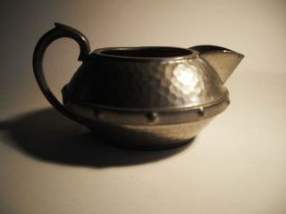 Arts And Crafts Style Pewter Milk Jug - Exquisite Little Piece photo