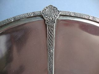 Fine 1938 English Arts & Crafts Sterling Silver Bowl With Celtic Strapwork photo