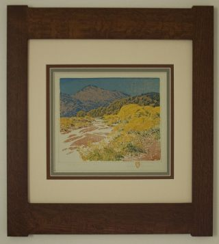 Mission Style Gustave Baumann Arts & Crafts Framed Print - Arroyo Chamisa photo