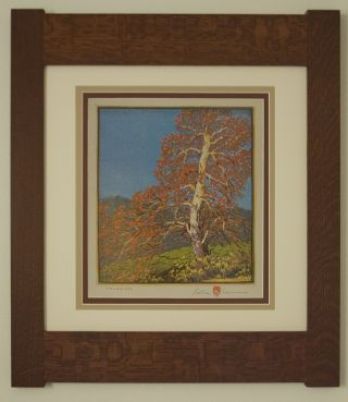 Mission Style Gustave Baumann Bungalow Arts & Crafts Framed Print - Sycamore photo
