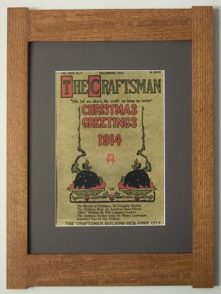 Mission Style Art Quartersawn Oak Arts & Crafts Framed Print - The Craftsman Xmas photo