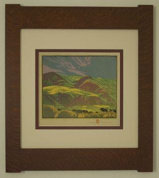 Mission Style Gustave Baumann Bungalow Arts & Crafts Framed Print - Coast Range photo
