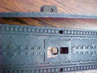 Pair Antique Mission Arts & Crafts Doorknob Backplates Bronze R.  E.  Co.  Xlnt photo