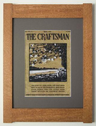 Mission Style Art Quartersawn Oak Arts & Crafts Framed Print - Craftsman Blossoms photo