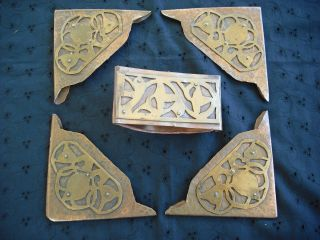 Earley Art ' S & Crafts Desk Set Blotter Corners And Blotter. photo