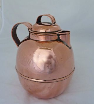Outstanding And Rare Victorian Copper Table Jug By Richard Perry C.  1890 photo