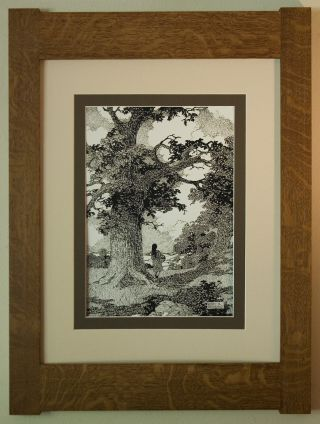 Mission Style Bungalow Quartersawn Oak Arts & Crafts Framed Print - King Of Trees photo