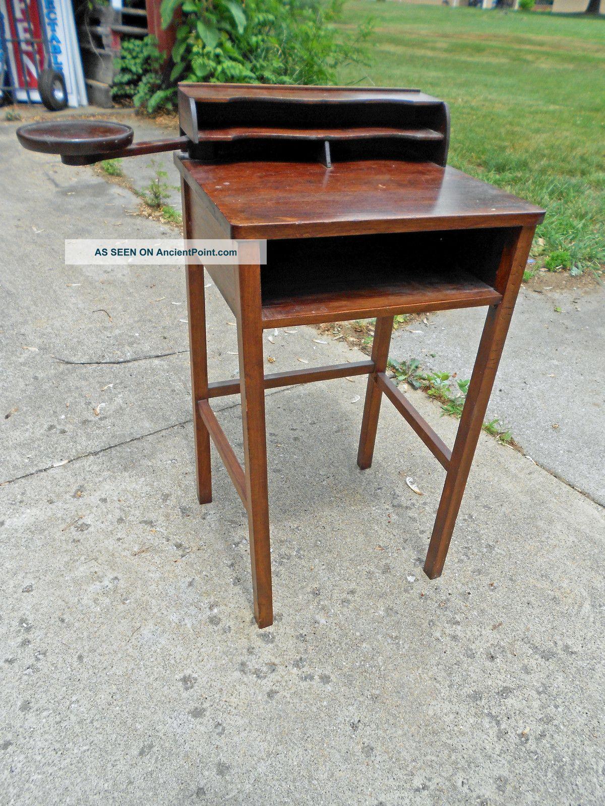 Unique Antique Mission Style Telephone Desk Secretary