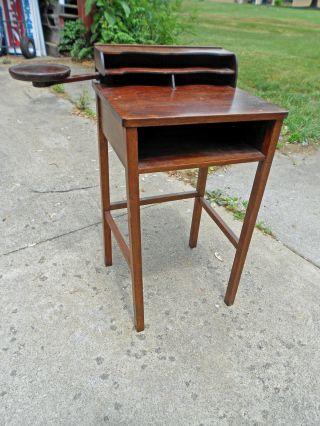 Unique Antique Mission Style Telephone Desk/secretary photo