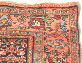 19th C Antique Persian All Wool Bidjar Halvaii Rug Carpet Tribal 49x68 Mint Cond photo