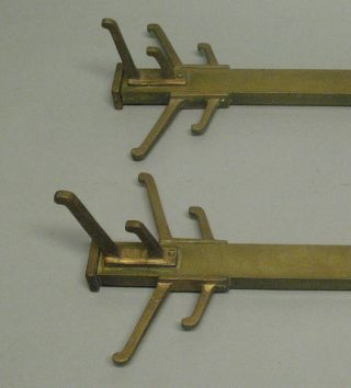 Fine Pair Of Arts & Crafts Prairie Style Coat Racks From Historic Home C.  1910 photo