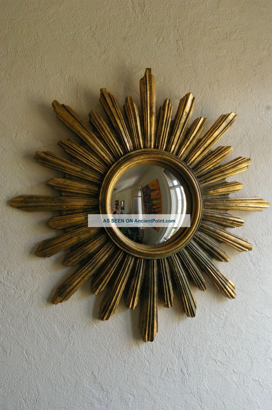 Sunburst Starburst Mirror 50s 60s Modernist Vintage Art Deco Miroir 50 S 60