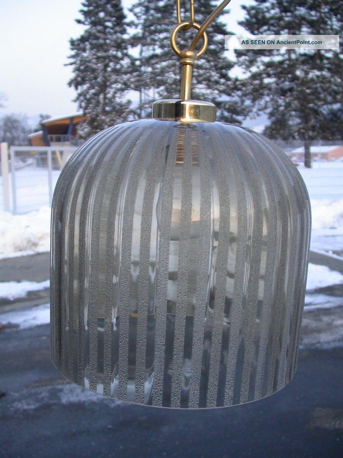 Vintage Austrian Design Glass Lamp 70ties Chandelier L 30