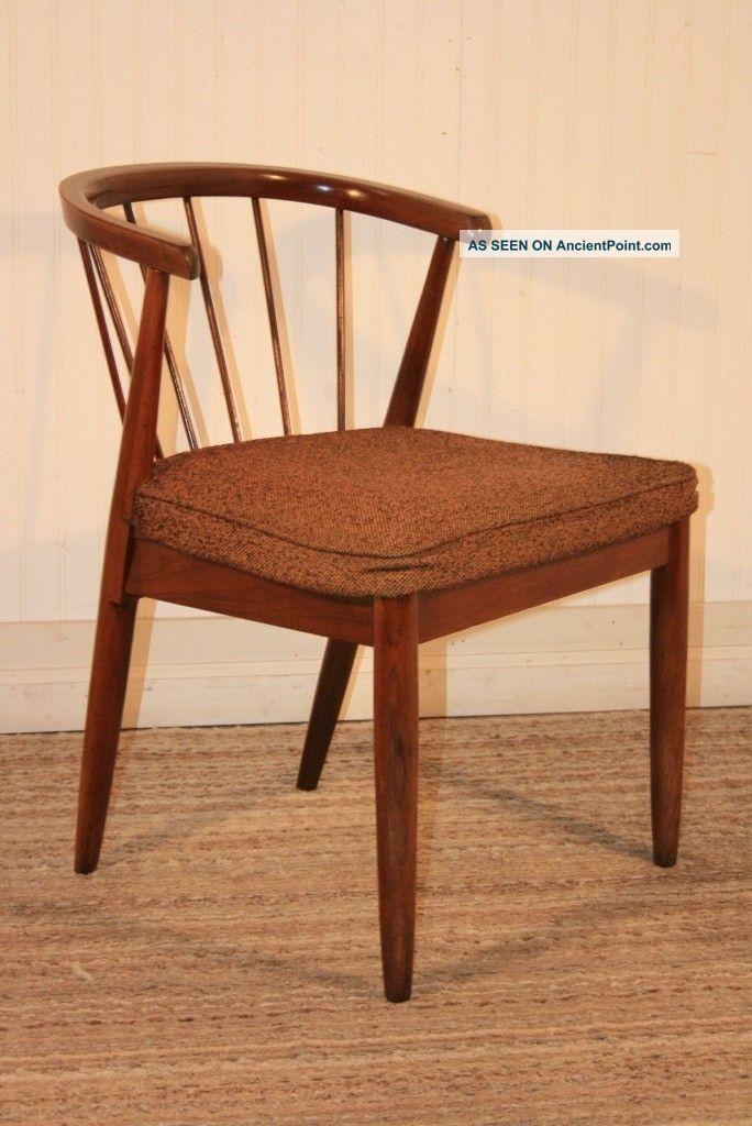 Picture of: Vtg Mid Century Danish Modern Barrel Spindle Back Desk Dining Chair Eames Era