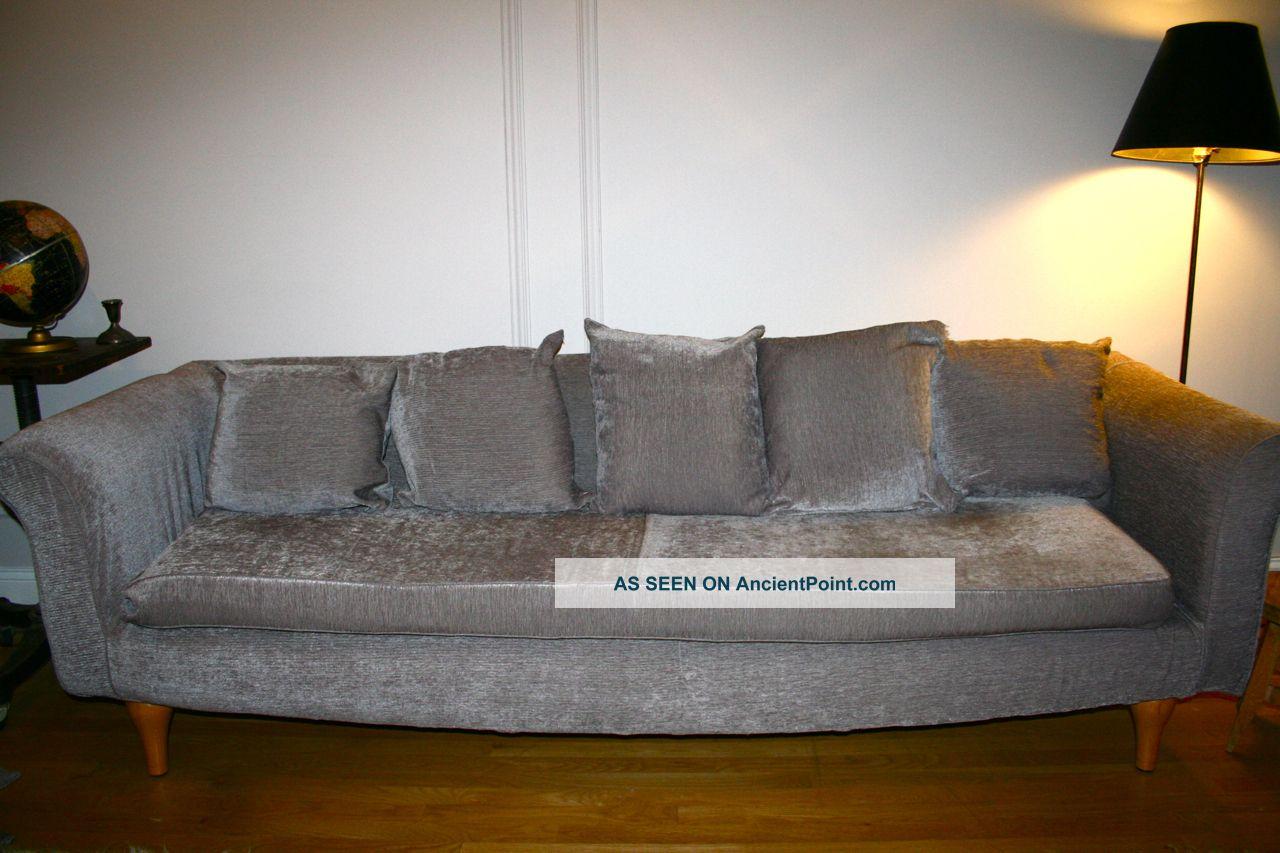 Permalink to Grey Velvet Sofa