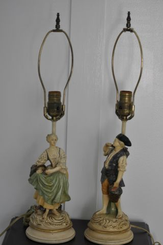 A Pair Of Vintage Table Lamps photo