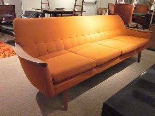Swedish Modern Orange 4 - Seater Sofa By Dux C1960s - All photo